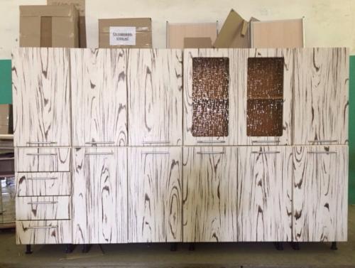 Кухня мдф зебра (матовые фасады )